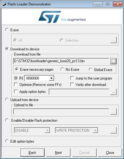 STM32 F103 / Den STM32dunio-Bootloader flashen, um den STM32 direkt