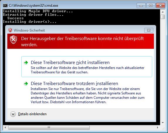 STM32 F103 / Den STM32dunio-Bootloader flashen, um den STM32