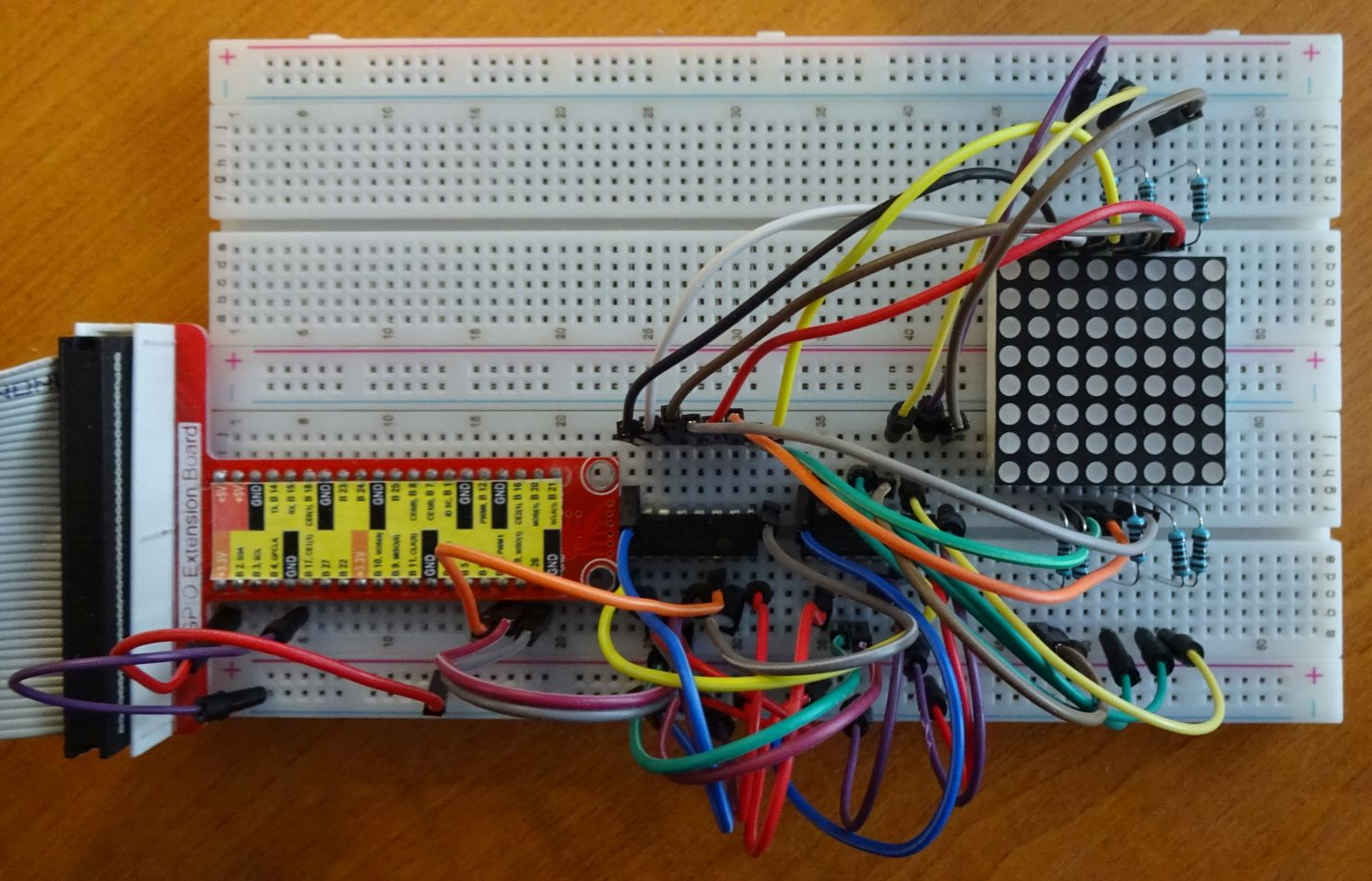 Sensational Arduino 8X8 Led Matrix Schaltung Vom Breadboard Auf Ein Prototype Wiring 101 Cominwise Assnl